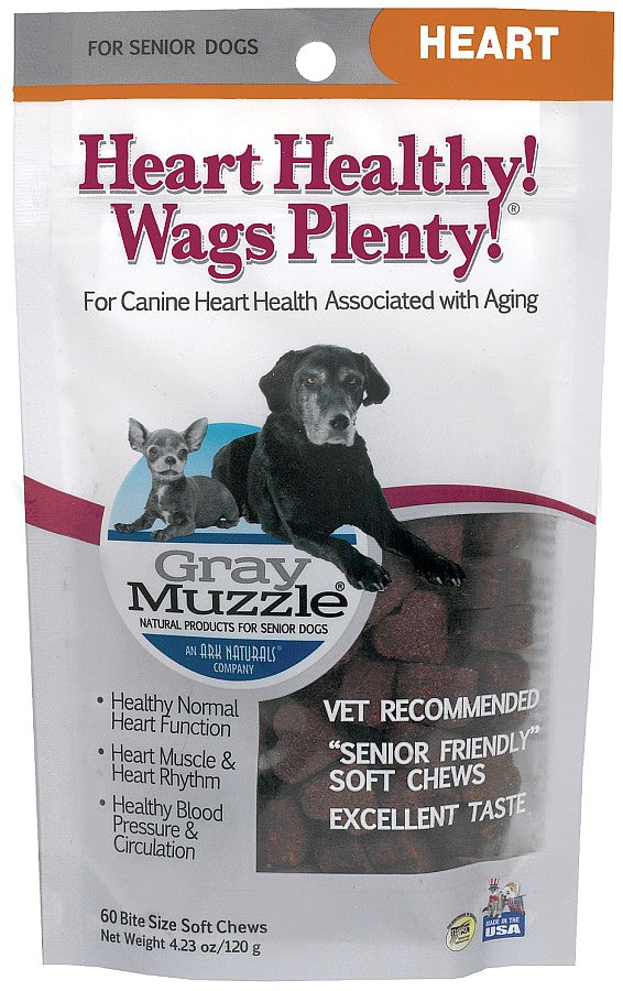 Ark Naturals Gray Muzzle Heart Healthy Wags Plenty Supplement