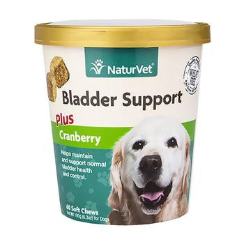 NaturVet Bladder Support with Cranberry - Soft Pet Chews