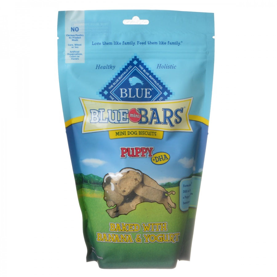 Blue Buffalo Blue Mini Bars Dog Biscuits for Puppies - Baked with Banana & Yogurt