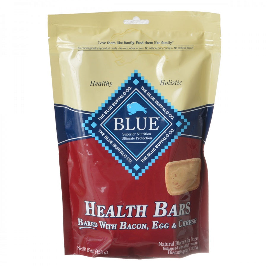 Blue Buffalo Health Bars Dog Biscuits - Baked with Bacon, Egg & Cheese