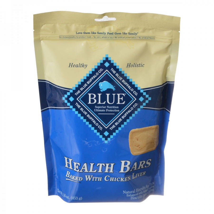Blue Buffalo Health Bars Dog Biscuits - Baked with Chicken Liver