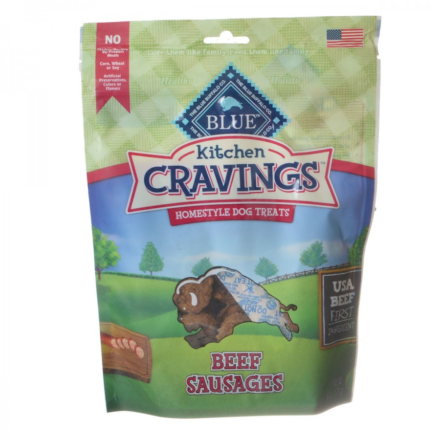 Blue Buffalo Kitchen Cravings Homestyle Dog Treats - Beef Sausages