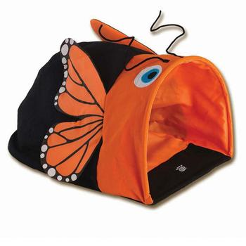 Crinkle Cat Cave - Orange Butterfly