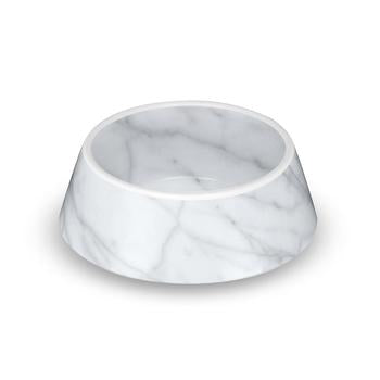 Carrara Marble Dog Bowl