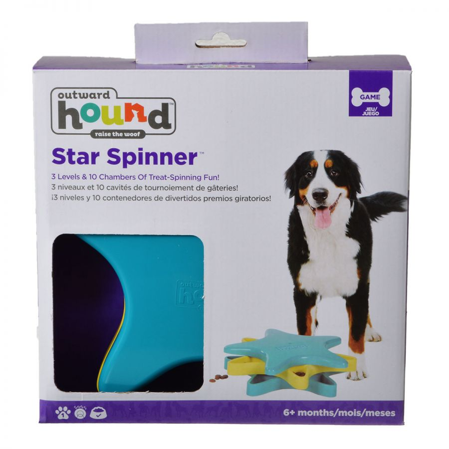 Dog Games Star Spinner Dog Toy Puzzle