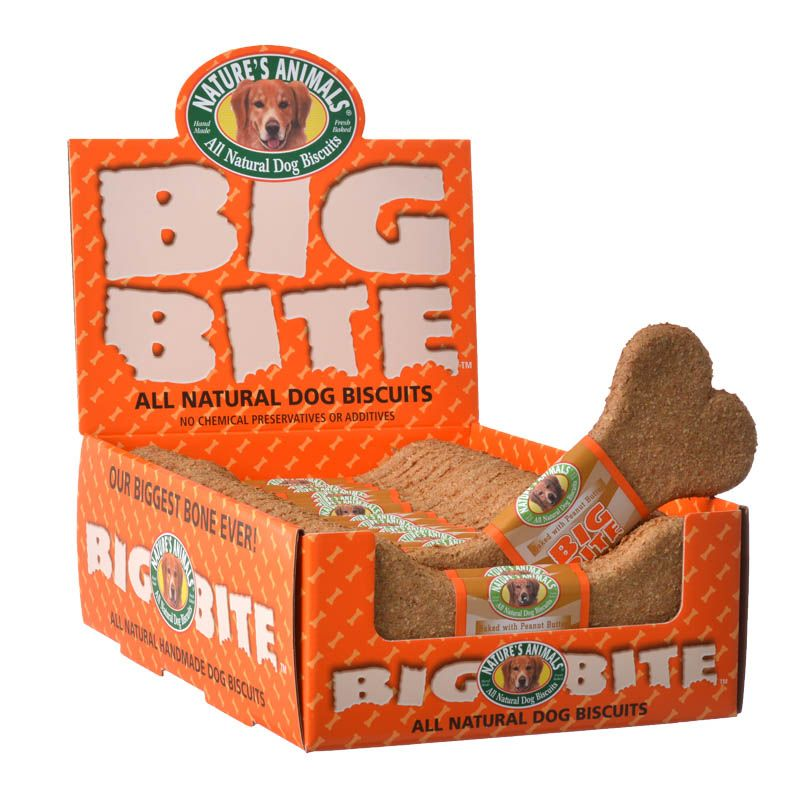 Natures Animals Big Bite Dog Treat - Cheddar Cheese Flavor