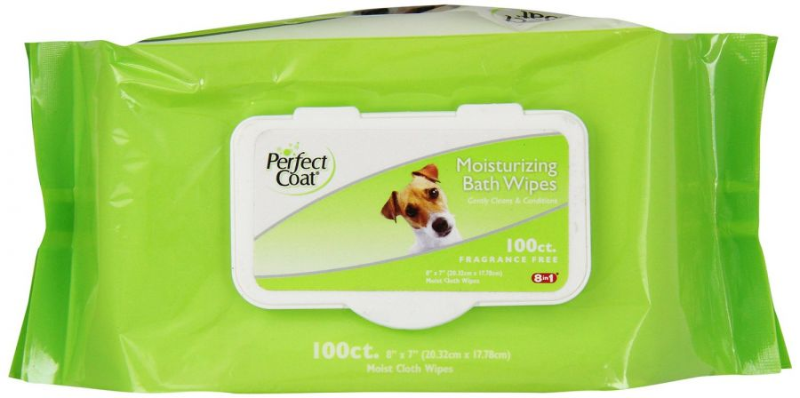 Perfect Coat Moisturizing Bath Wipes for Dogs