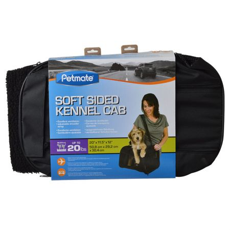 Petmate Soft Sided Kennel Cab Carrier - Black