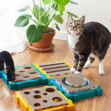 Petstages Puzzle Cat Play Station - Wavy Brush