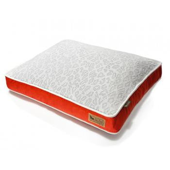 P.L.A.Y. What Dogs Dream Rectangular Dog Bed - Orange