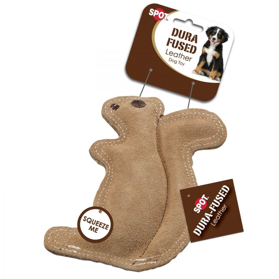 Spot Dura-Fused Leather Squirrel Dog Toy