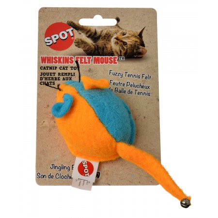 Spot Whiskins Felt Mouse with Catnip - Assorted Colors
