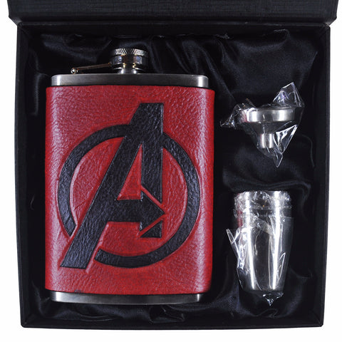 Avengers Inspired Flask Set