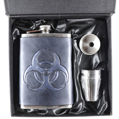Biohazard (Black) Flask Set