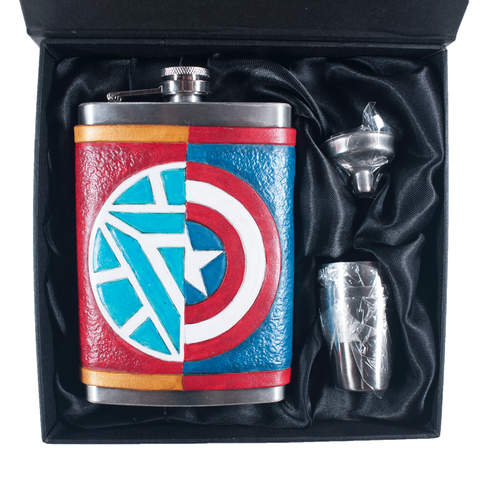 Captain/Ironman Inspired Flask
