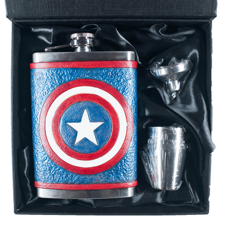 Captain America Inspired Flask Set