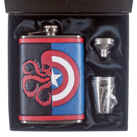 Captain/Hydra Inspired Flask Set