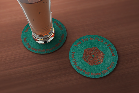 Crit Fail Pickpocket Drink Coaster
