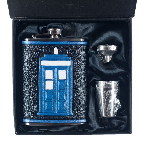 Doctor Who TARDIS Inspired Flask Set