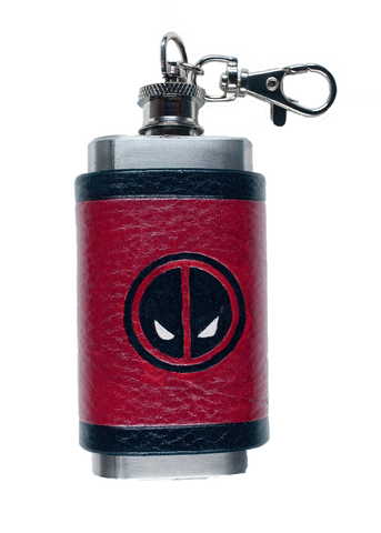 Deadpool Inspired Mini Flask