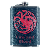 Game of Thrones Targaryen Inspired Flask Set