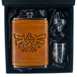 Hylian Shield Inspired Flask Set
