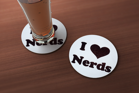 I Love Nerds Drink Coaster
