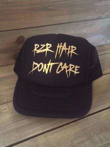 RZR Hair Dont Care Trucker - Black & Matte Gold