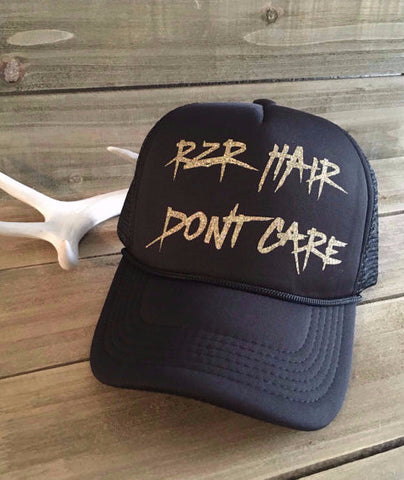 RZR Hair Don't Care Trucker Hat- Black
