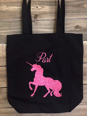 Unicorn Tote Bag Sparkle Pink