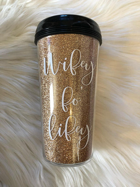 Wifey Fo' Lifey Travel Coffee Mug