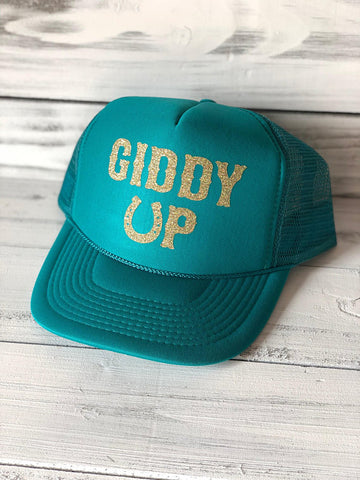 Giddy Up Cute Cowgirl Trucker Hat