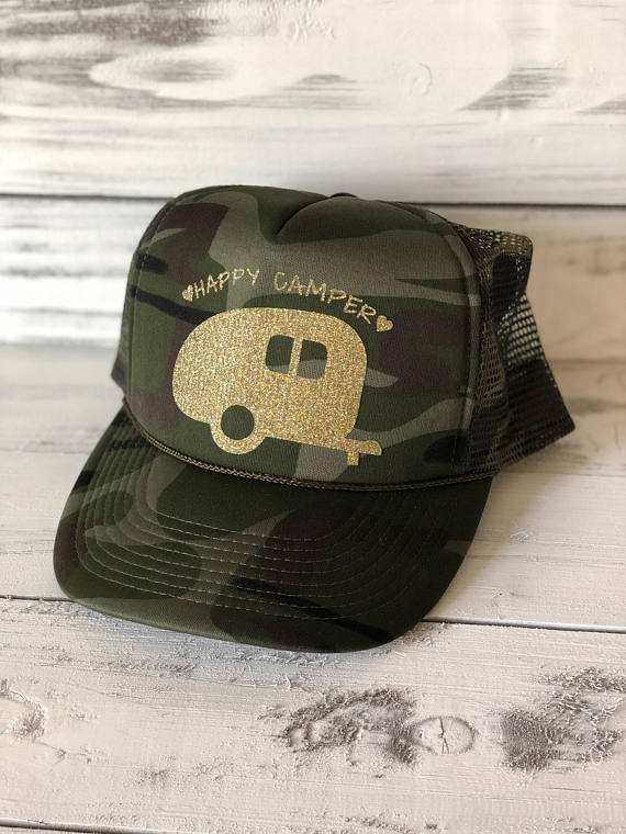 Happy Camper Camo Trucker Hat