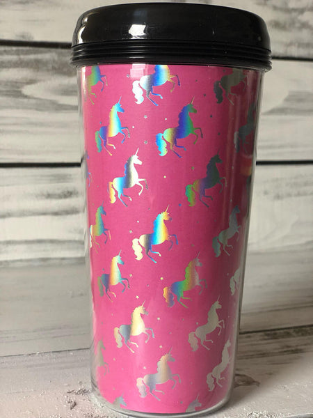 Pink Unicorn Travel Mug
