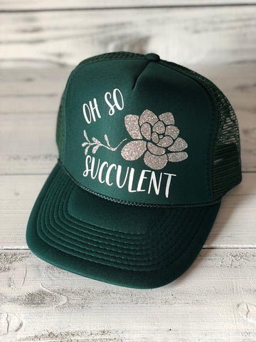 Oh So Succulent Trucker Hat