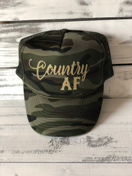Country AF Camo Trucker Hat
