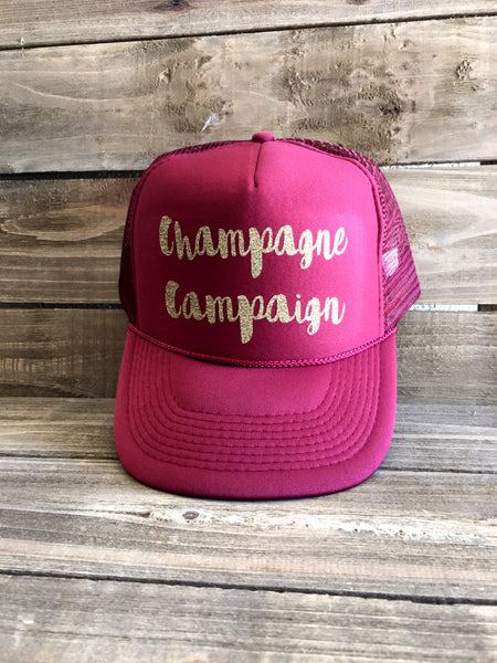Champagne Campaign Trucker Burgundy