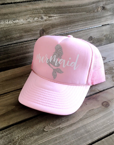 Mermaid Trucker Hat - Pink
