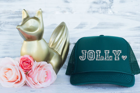 Christmas Trucker Hat Green Jolly