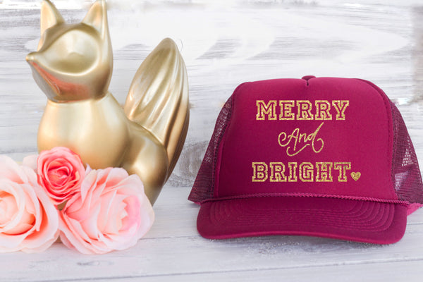 Christmas Trucker Hat Merry & Bright