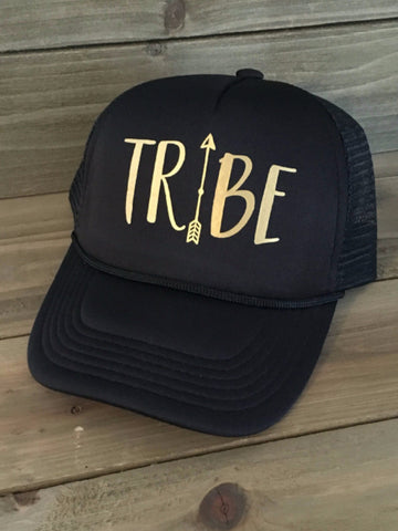 Tribe Black & Gold Trucker Hat