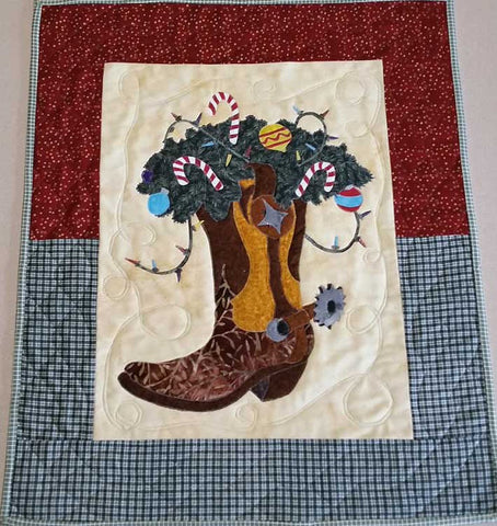 Boot Scootin Christmas Applique Quilt Pattern by Bigfork Bay Cotton Company