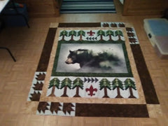 Call of the Wild Bear Panel Quilt