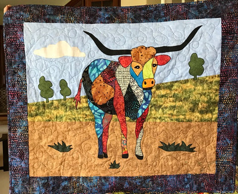 BJ Designs Laredo Longhorn Cow Wall Hanging