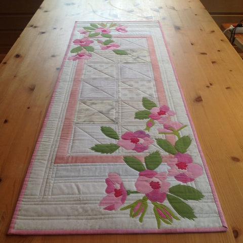 Mari Nordvik in Norway Flower Applique Table Runner