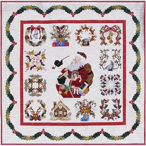P3 Designs Baltimore Christmas BOM Applique Quilt Pattern Set