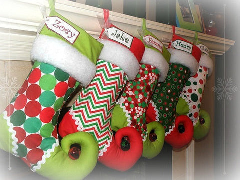 Personalized Christmas Stockings using Springs Creative fabrics