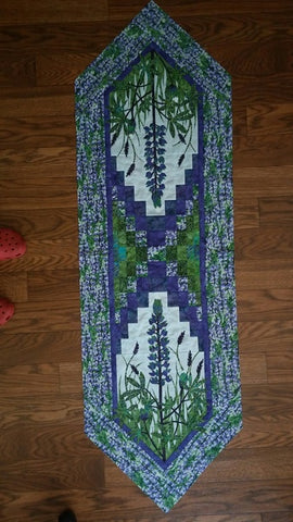 Wildfire Designs Alaska Field of Blue Table Runner