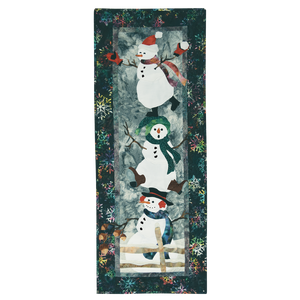 Pine Needles When Friends Gather Christmas Snowman Applique Quilt Kit with Pattern by McKenna Ryan