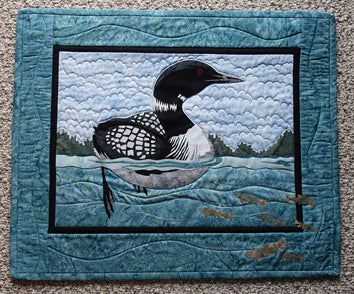 Wildfire Designs Alaska Day at the Lake Loon Wall Hanging Quilt